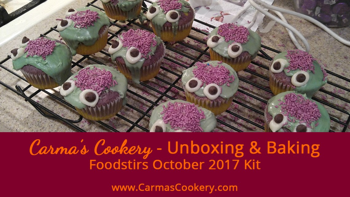 Foodstirs October 2017 Kit - Little Monsters Cupcakes
