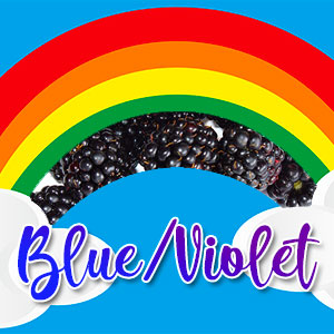 Blue / Indigo / Violet veggie plate ideas