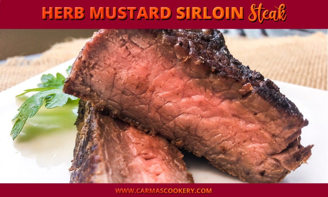 Herb Mustard Sirloin Steak