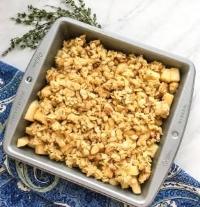Apple Crisp ready to bake