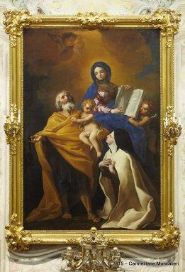 Pala dell'altare raffigurante S. Teresa con s. Giuseppe, il Bambino e la Madonna