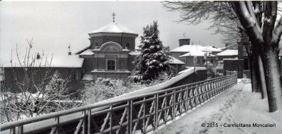vista sotto la neve