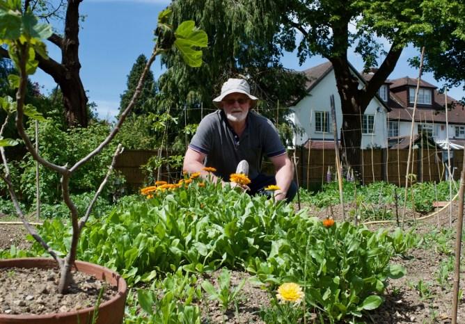 Fr Michael in Garden