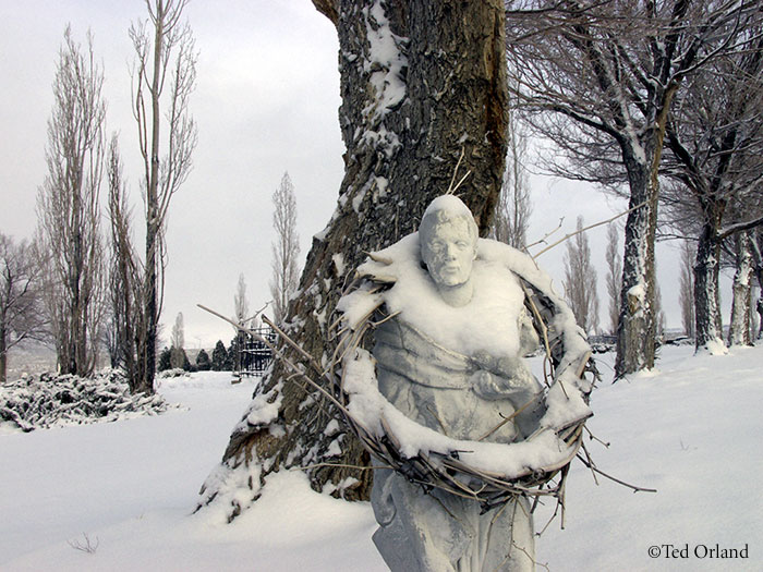 Statue, Mono Lake Cemetery ©Ted Orland