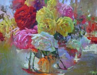 """Roses with Fish"" by David Gallup"