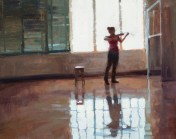 Composition with Violinist in Room 38