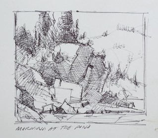 Morning At The Pond, Sketch
