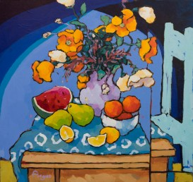 Angus_Wilson_Watermelon_lemons_and_Orange_Poppies