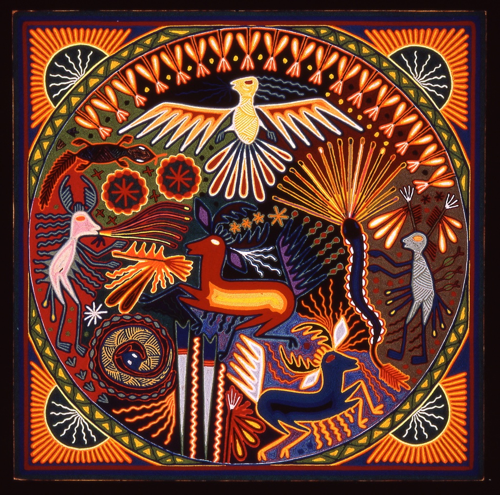 huichol-yarn-painting-1-deer-eagle-shaman
