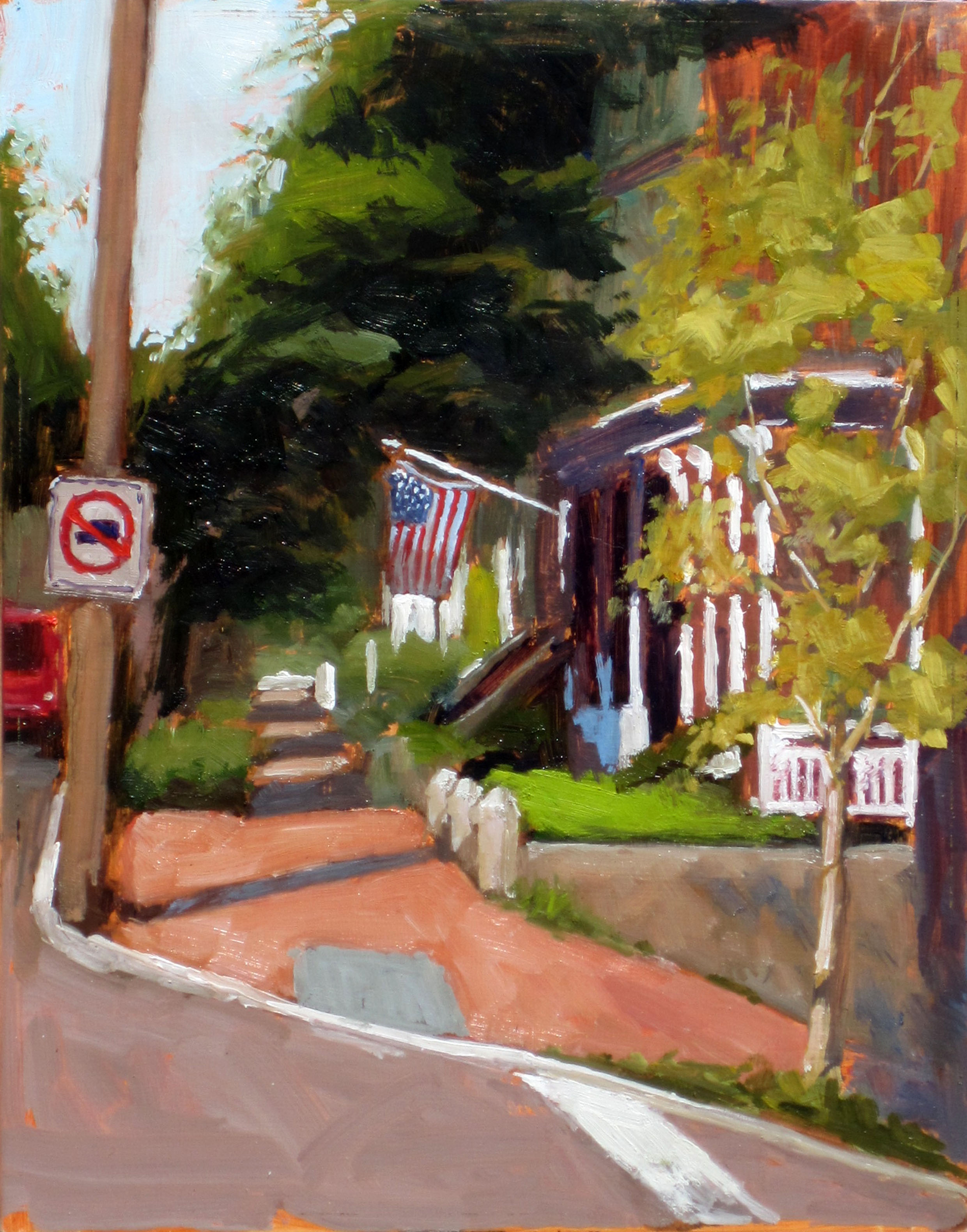 corner in Church Hill 11x14