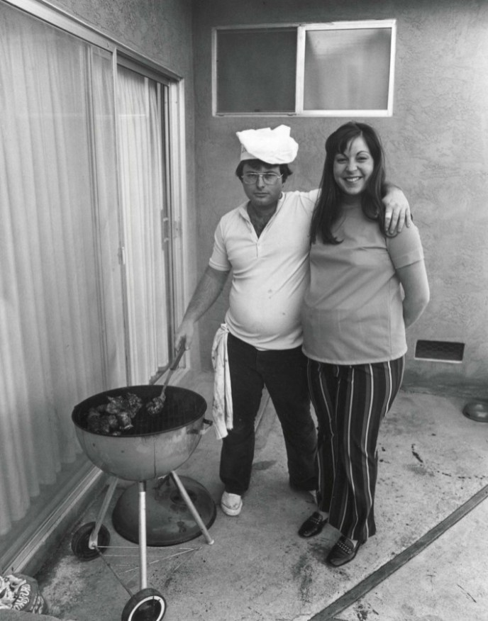 Sunday afternoon we get it together. I COOK THE STEAKS AND MY WIFE MAKES THE SALAD. 1970