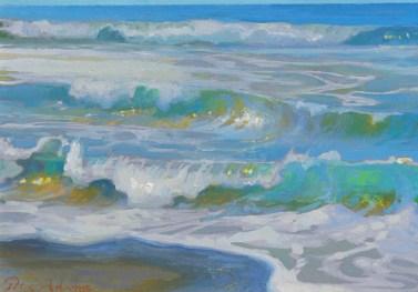 Peter-Adams-Morning Surf Glare-Oceanside