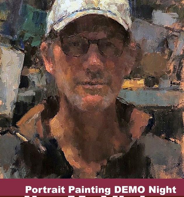 Jim McVicker Portrait Painting Demo