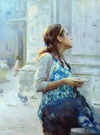 """Where am I?"" Oil painting by Huihan Liu"