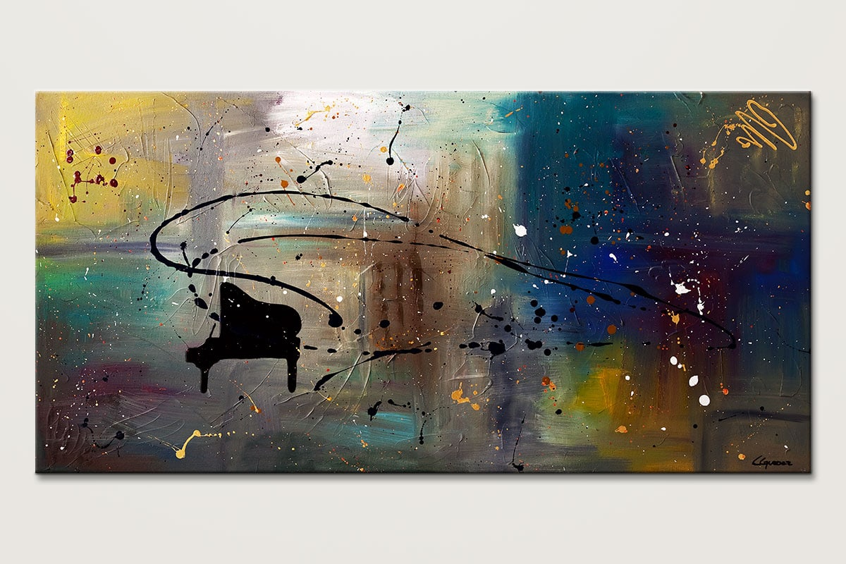 Abstract Art Music Paintings - Jazz Night