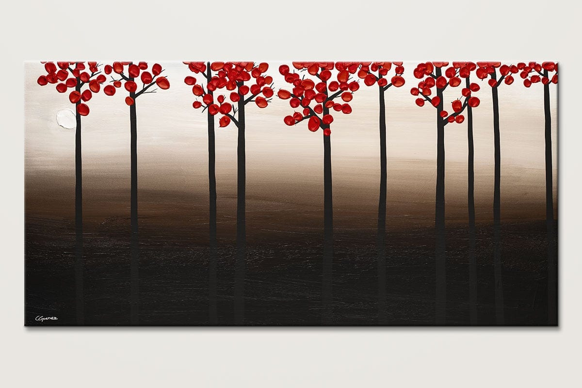 Modern Landscape - Contemporary Trees Abstract Painting