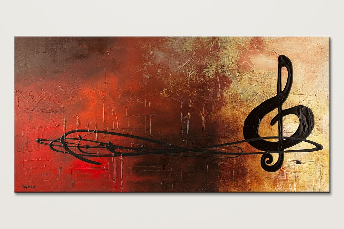 The Pause - Music Abstract Painting by Carmen Guedez - Arte Abstract