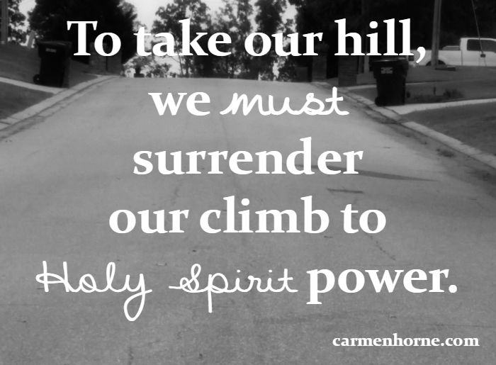 You can take your hill