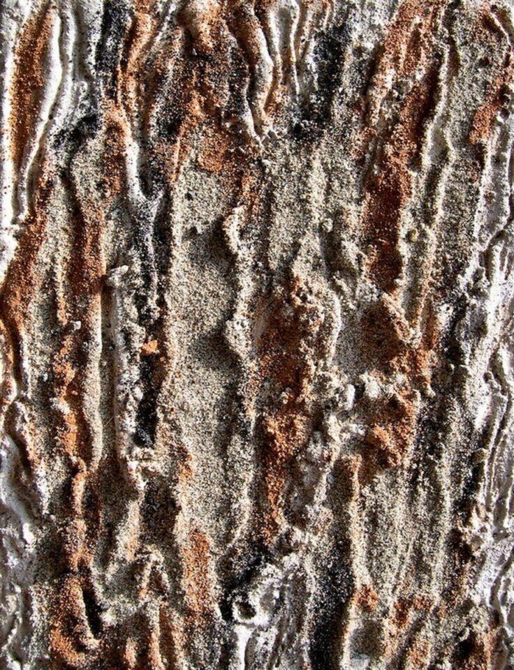 terre, resine naturali e gesso su tavola - 20 x 30 cm- 2005
