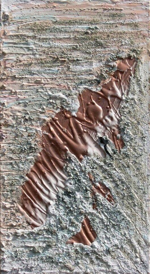 polimaterico con terre e bronzina su tavola - 32 x 60 cm - 2005