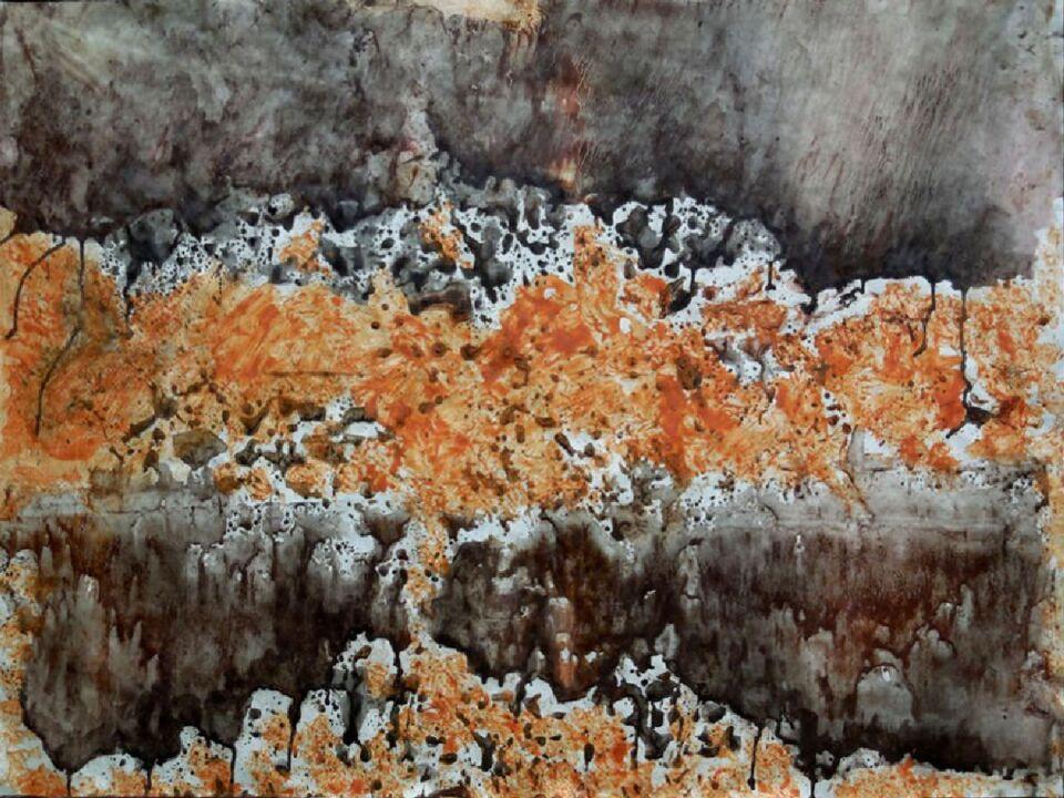 terre e resine naturali su carta - 100 x 75 cm - 2015