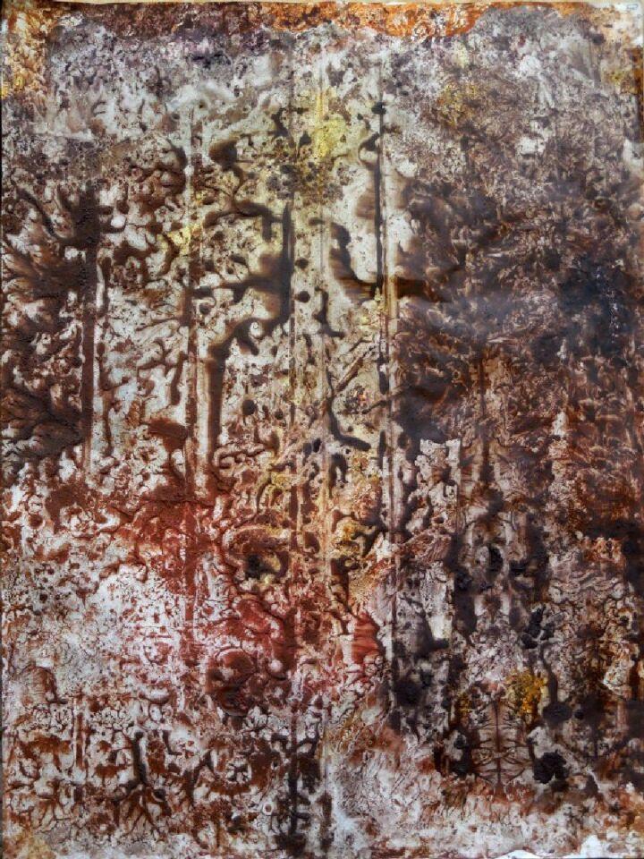 terre e resine naturali su carta - 70 x 100 cm - 2015