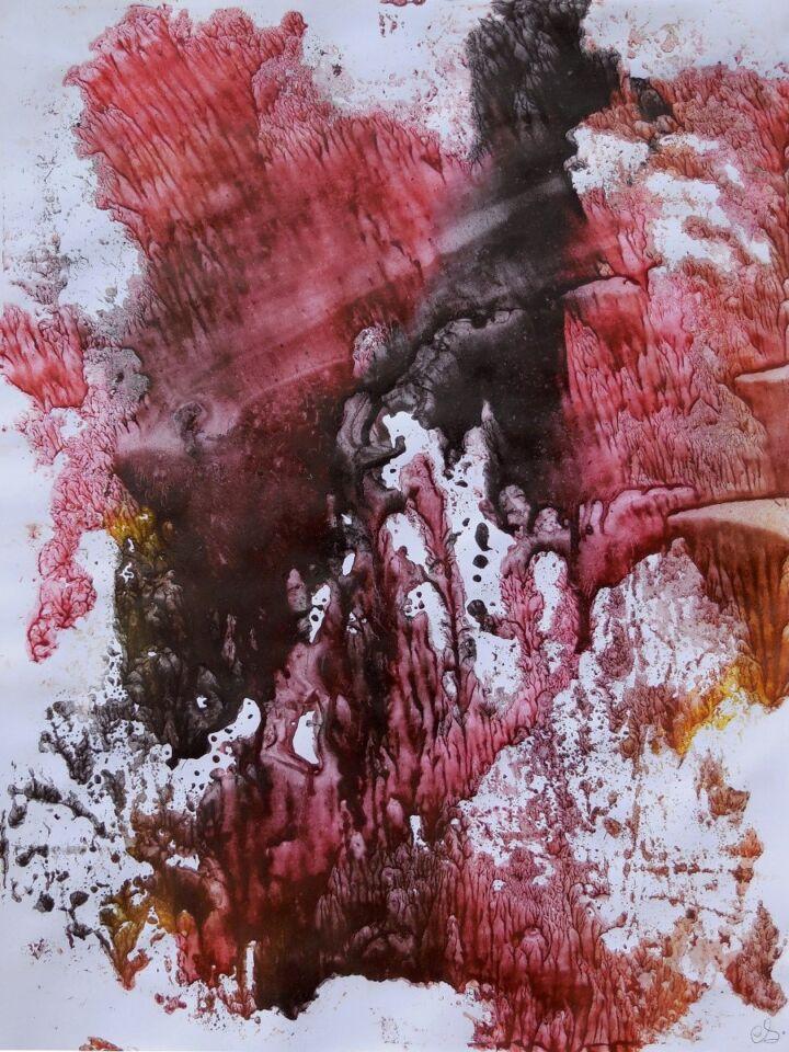 terre e resine naturali su cartoncino - 50 x 70 cm - 2016