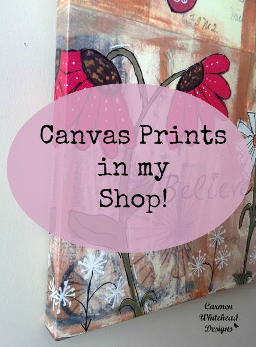 Canvas prints in my shop