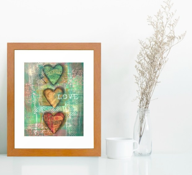 My Shabby Valentine Collection by Carmen Whitehead Designs - 3 Hearts Love