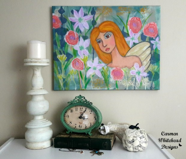 Angel Fairy Canvas by Carmen Whitehead Designs