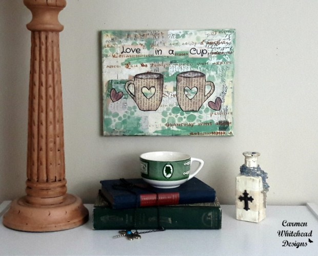 Love in a Cup canvas created by Carmen Whitehead Designs
