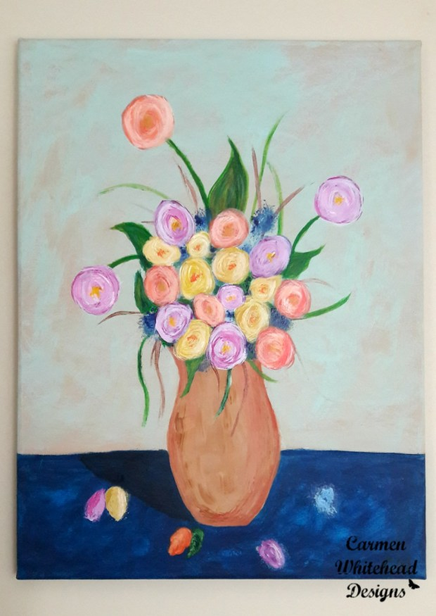 Spring Bouquet original art - Carmen Whitehead Designs