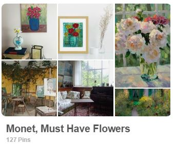 Claude Monet Pinterest board - Carmen Whitehead Designs