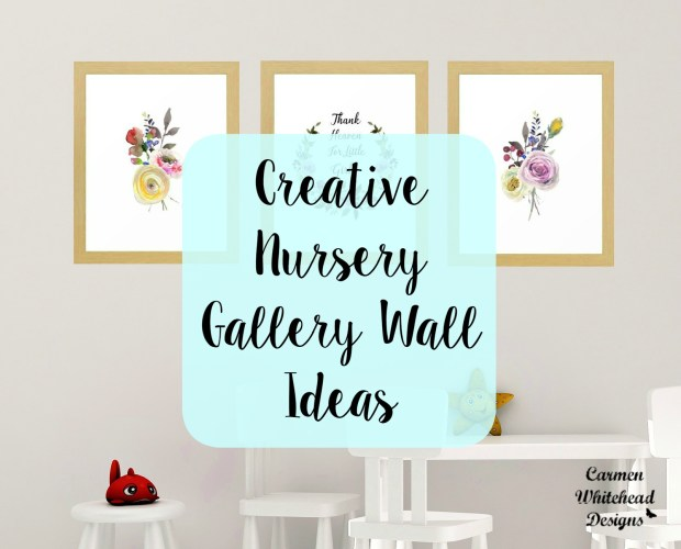 Creative Nursery Gallery Wall Ideas - Carmen Whitehead Designs