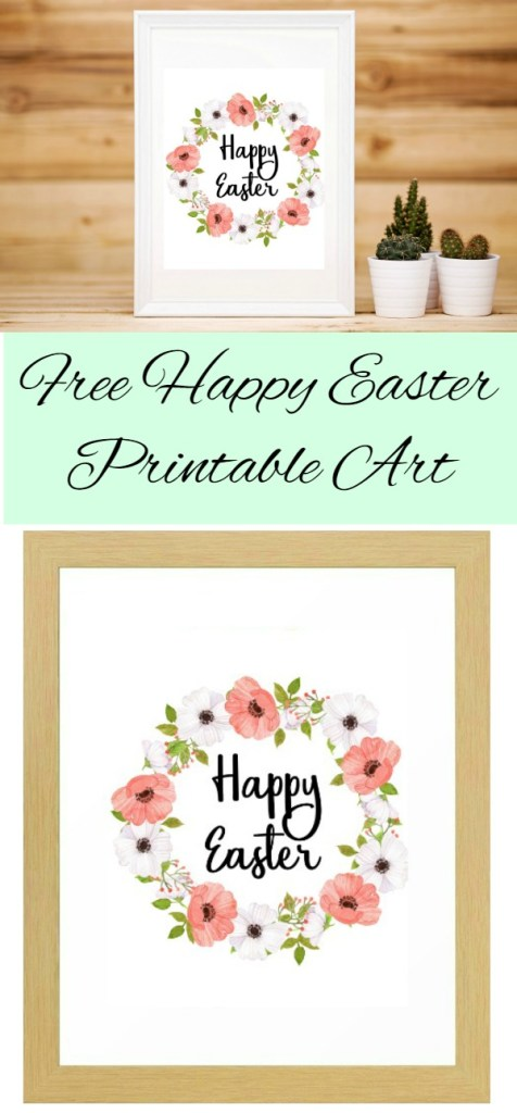 Free Happy Easter Printable Art created by Carmen Whitehead Designs