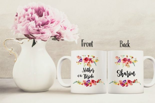 Personalized Bridal Party mugs by The Mug Life Designs Etsy Shop