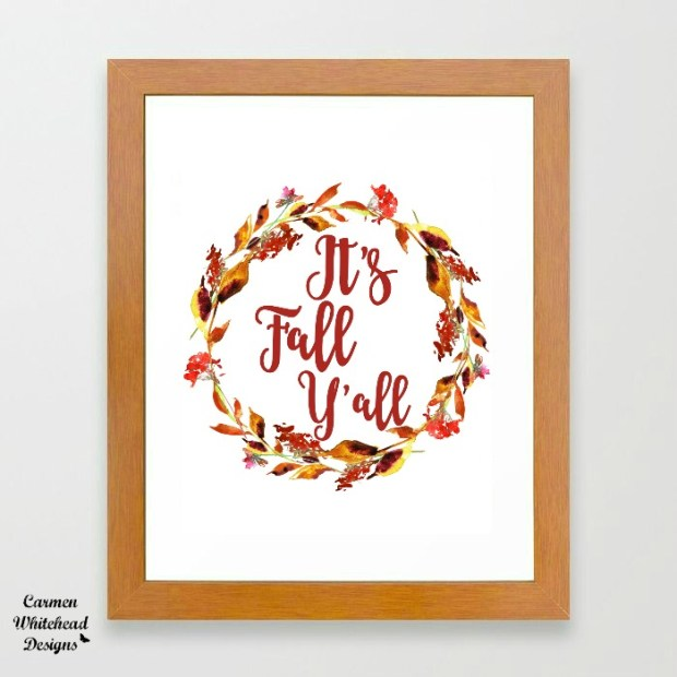 Free Autumn Printable created by Carmen Whitehead Designs