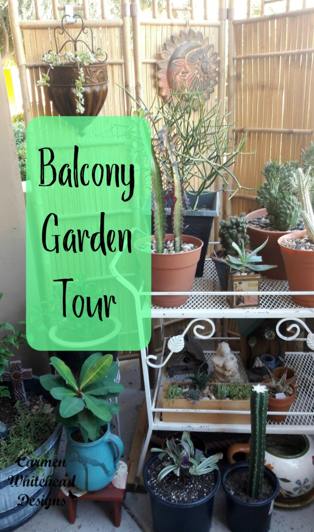 Balcony Garden Tour Fall 2017 by Carmen Whitehead Designs
