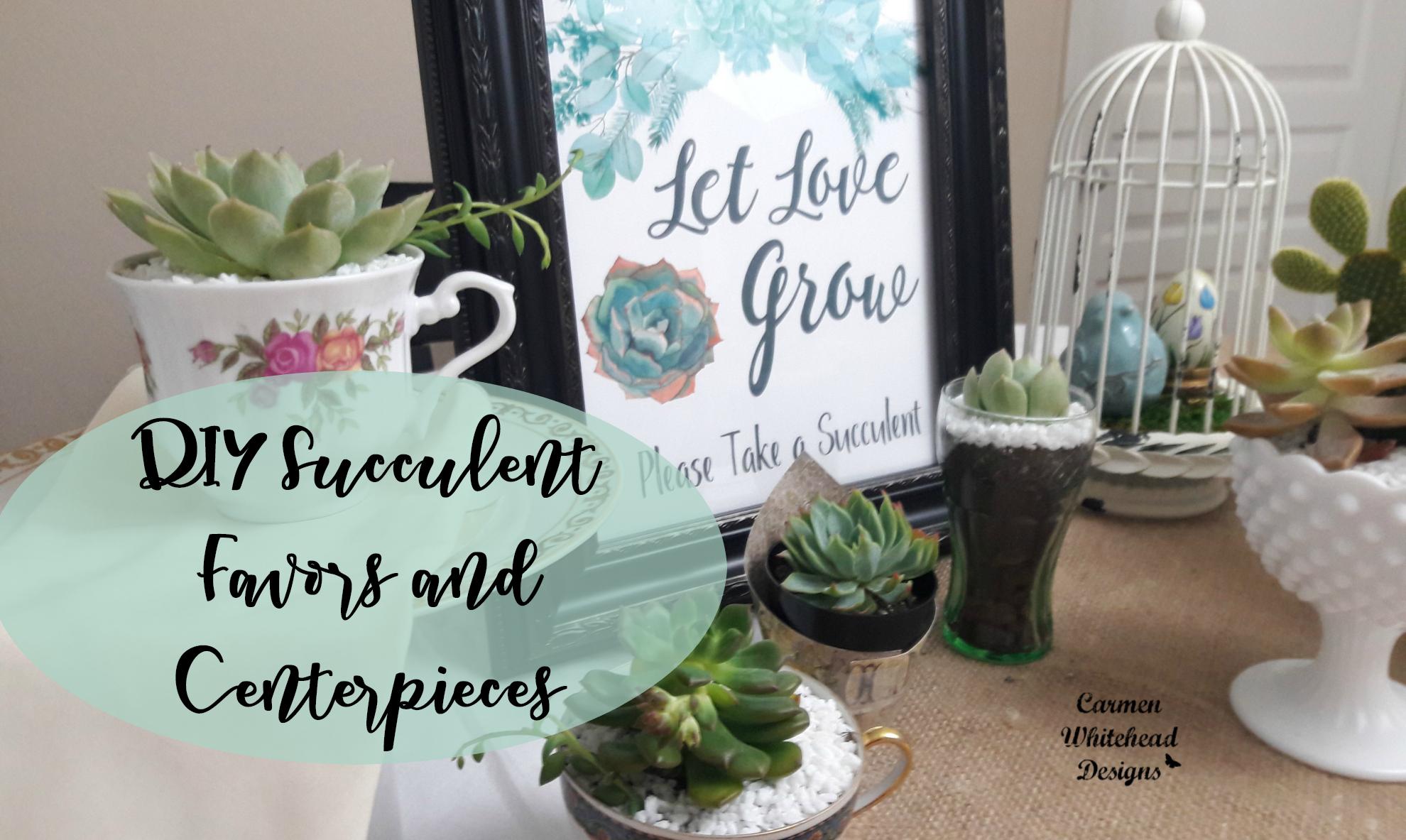 DIY Succulent Favors and Centerpieces