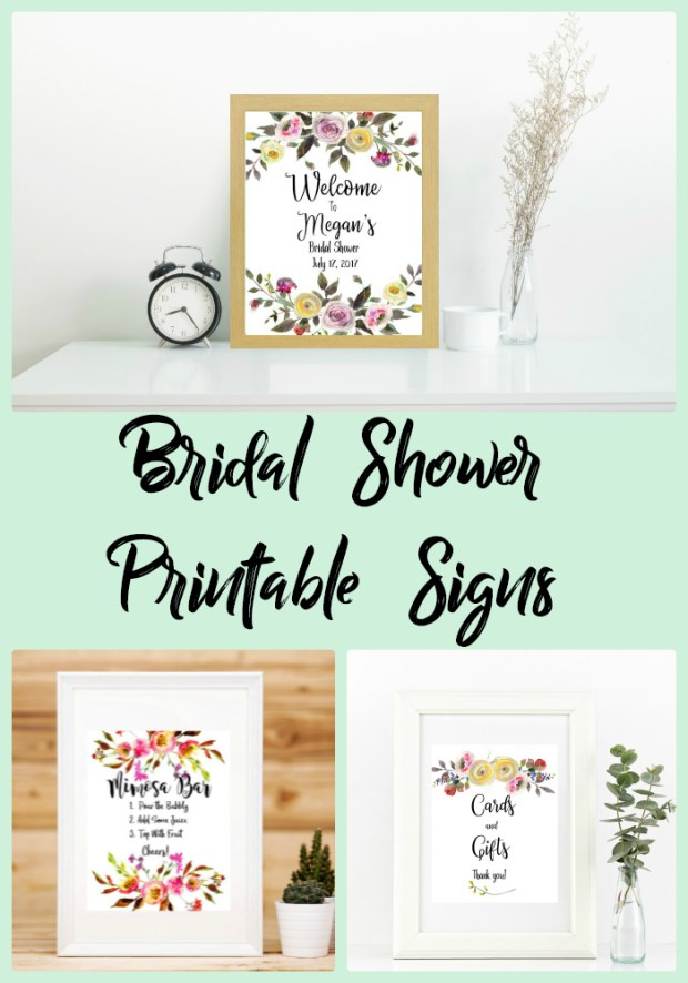 Bridal Shower Printable Signs - Carmen Whitehead Designs