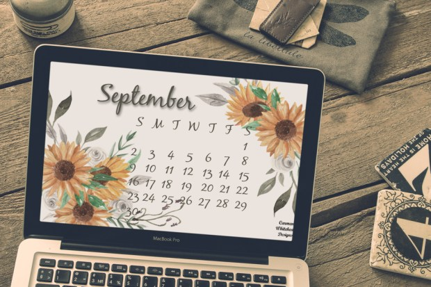 September 2018 Desktop and Mobile Calendar - Carmen Whitehead Designs