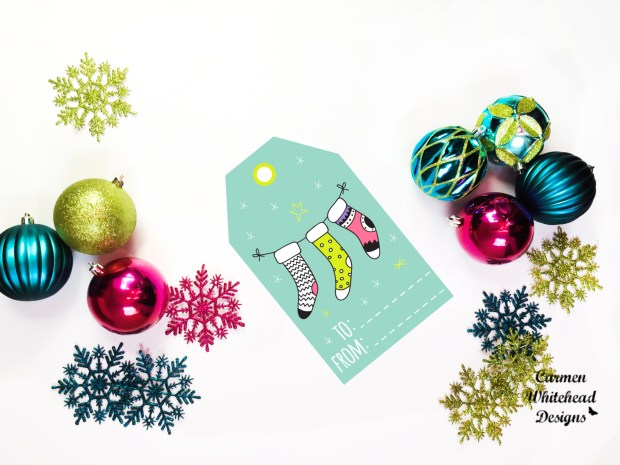 Whimsical Christmas Tags - Carmen Whitehead Designs