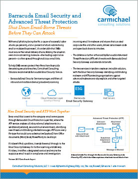 Barracuda Email Security and Advanced Threat Protection