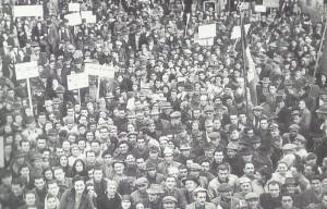 """30 gennaio 1948. Manifestazione di solidarietà con i lavoratori della """"Barbieri & Burzi"""""""