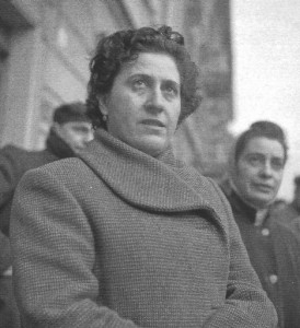 In sciopero alla Casaralta (anni '50).