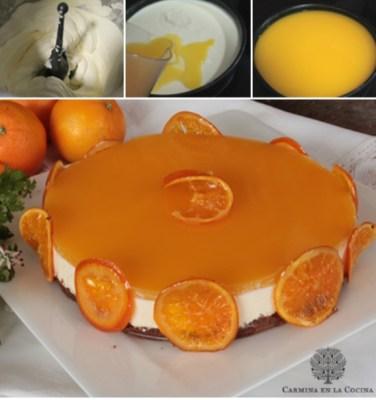 Tarta mousse de naranja y mascarpone