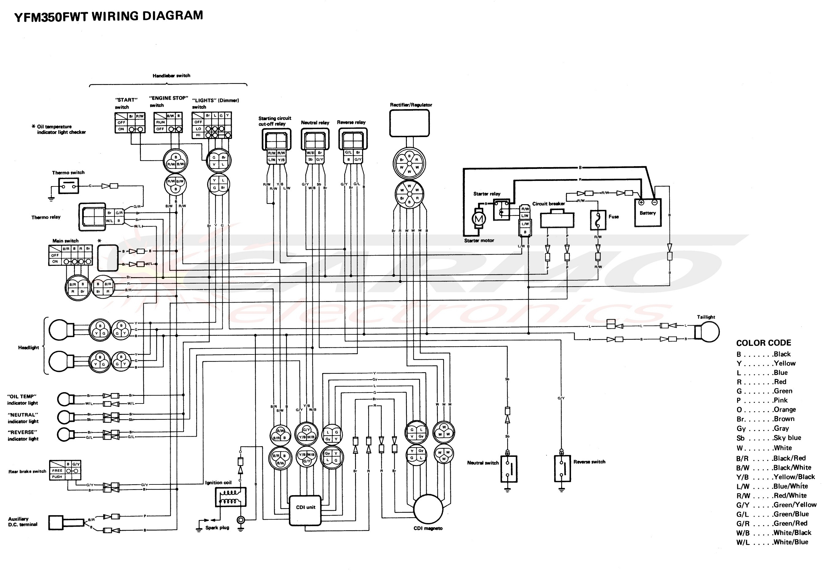 Yamama-Moto4-YFM350FWT-wiring-diagram-cdi-igniton-unit Yamaha Moto Wiring Diagram on 98 yamaha warrior, mighty mule, chevy engine starter, cid distributor, chevy engine,