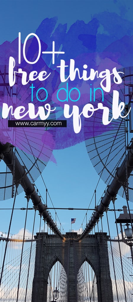 10+ free things to do in New York!