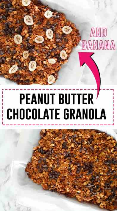 Peanut Butter Chocolate Granola -Do you love peanut butter? Do you love chocolate? Then this granola is perfect for you!