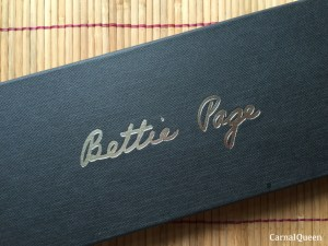 Bettie Page Teasearama Leather Riding Crop Box.